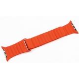 Ремешок кожаный COTEetCI W7 Leather Magnet Band (WH5206-OR) для Apple Watch 44 мм Оранжевый
