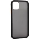 Чехол-накладка пластиковый KeepHone Armor Series для iPhone 11 (6.1) с силиконовыми бортами Черный