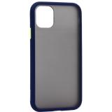 Чехол-накладка пластиковый KeepHone Armor Series для iPhone 11 (6.1) с силиконовыми бортами Темно-синий