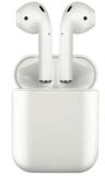 Bluetooth-гарнитура Prime Line TWS-Air ProD-4032 Wireless charging case с зарядным устройством и чехлом Белые