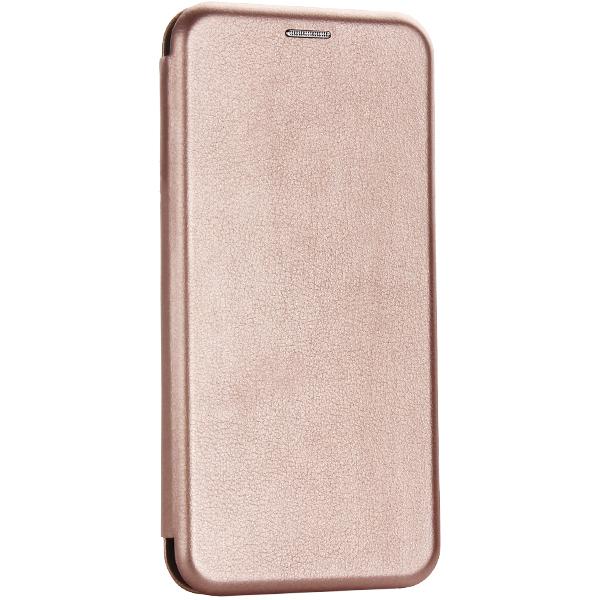Чехол-книжка кожаный Fashion Case Slim-Fit для Samsung Galaxy A30s Розовое золото