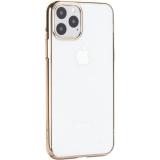 Чехол-накладка пластиковый X-Level для iPhone 11 Pro (5.8) Золотой глянцевый борт