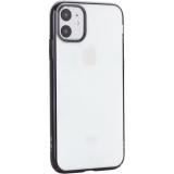 Чехол-накладка пластиковый X-Level для iPhone 11 (6.1) Черный глянцевый борт