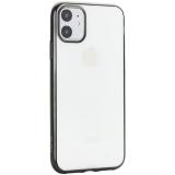 Чехол-накладка силиконовый X-Level для iPhone 11 (6.1) Черный глянцевый борт
