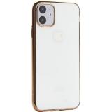 Чехол-накладка силиконовый X-Level для iPhone 11 (6.1) Золотой глянцевый борт
