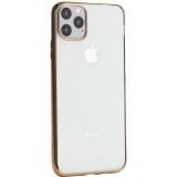Чехол-накладка силиконовый X-Level для iPhone 11 Pro Max (6.5) Золотой глянцевый борт