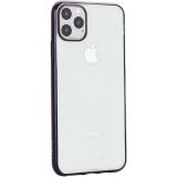 Чехол-накладка силиконовый X-Level для iPhone 11 Pro Max (6.5) Черный глянцевый борт