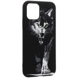 Чехол-накладка силикон Luxo для iPhone 11 Pro (5.8) 0.8мм с флуоресцентным рисунком Волк Черный