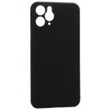 Чехол-накладка карбоновая K-Doo Air Carbon 0.45мм для Iphone 11 (6.1) Черная