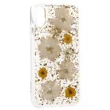 Чехол-накладка силиконовая K-Doo Flowers TPU + Dried Flowers + Lucite для iPhone XS (5.8) Желтая