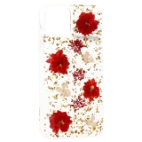 Чехол-накладка силиконовая K-Doo Flowers TPU+Dried Flowers+Lucite для iPhone 11 Pro Max (6.5) Красная