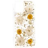 Чехол-накладка силиконовая K-Doo Flowers TPU+Dried Flowers+Lucite для iPhone 11 Pro (5.8) Желтая