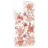 Чехол-накладка силиконовая K-Doo Flowers TPU+Dried Flowers+Lucite для iPhone 11 Pro Max (6.5) Розовая