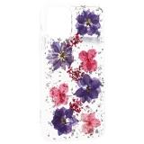 Чехол-накладка силиконовая K-Doo Flowers TPU + Dried Flowers + Lucite для Iphone 11 (6.1) Сиреневая