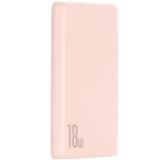 Аккумулятор внешний универсальный Baseus Bipow QC 18W (USB:5V-3A & Type C: 5V-3A) (PPDML-04) 10000 mAh Розовый