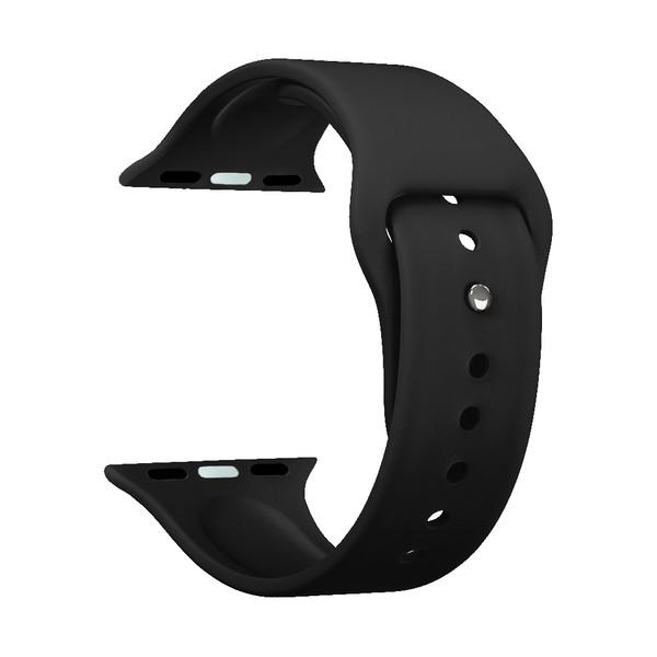 Ремешок силиконовый Deppa Band Silicone D-47122 для Apple Watch 38 мм Черный