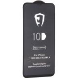 Стекло защитное 10D Full Glue Premium Glass (полноклейкое) для iPhone 11 Pro Max/ Xs Max (6.5) Black