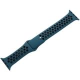 Ремешок спортивный COTEetCI W12 Sport Band (WH5216-BL-BK-38) для Apple Watch 40 мм Черно-Голубой