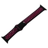 Ремешок спортивный COTEetCI W12 Sport Band (WH5216-BK-PK-38) для Apple Watch 40 мм Черно-Розовый