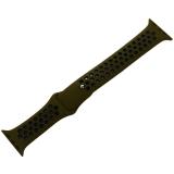 Ремешок спортивный COTEetCI W12 Sport Band (WH5217-GR-BK-42) для Apple Watch 44 мм Черно-Зеленый