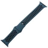 Ремешок спортивный COTEetCI W12 Sport Band (WH5217-BL-BK-42) для Apple Watch 44 мм Черно-Голубой