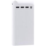 Аккумулятор внешний универсальный Hoco J62-30000 mAh Power bank (3 USB, Micro USB, Type C: 5V-2A) Белый