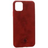 Накладка кожаная Santa Barbara Polo & Racquet Club Knight Series для iPhone 11 Pro Max (6.5) Красная