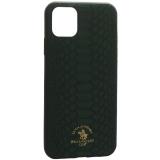 Накладка кожаная Santa Barbara Polo & Racquet Club Knight Series для iPhone 11 Pro Max (6.5) Зеленая
