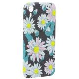 Чехол-накладка силикон Luxo для iPhone XR (6.1) 0.8 мм с флуоресцентным рисунком Цветы Черный