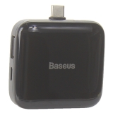 Переходник Baseus Fully folded portable 4-in-1 Type-C HUB (CAHUB-DW01) Type-C to USB2.0x4/ Type-C Черный