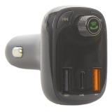 Автомобильное зарядное устройство Baseus T typed S-13 c FM-трансмитером Wireless MP3 car Quick charger (CCTM-B01) Черный