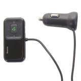Автомобильное зарядное устройство Baseus T typed S-16 c FM-трансмитером cо шнуром Wireless MP3 car charger (CCTM-E01) Черный
