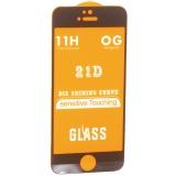Стекло защитное c рамкой для iPhone SE/ 5S/ 5C/ 5/ iPod touch 5 Black