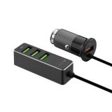 Автомобильное зарядное устройствоDeppa D-11295 USB + 3USB QC3.0 7A алюминий Графитовый