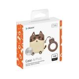 Чехол силиконовый Deppa Funny Animals для AirPods 2/ AirPods D-47302 2.0 мм кот Коричневый-кремовый