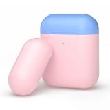 Чехол силиконовый Deppa для AirPods 2/ AirPods D-47023 1.4 мм Розово-голубой