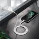 Адаптер питания Hoco N2 Vigour single port charger с кабелем Lightning (USB: 5V max 2.1A) Белый