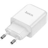 Адаптер питания Hoco N2 Vigour single port charger Apple & Android (USB: 5V max 2.1A) Белый