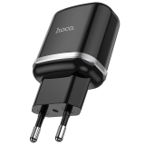 Адаптер питания Hoco N3 Special single port QC3.0 charger Apple & Android (USB: 3.6-6.5V 3.0A/6.6-9V 2.0A/ 18W) Черный
