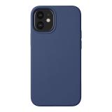 Чехол-накладка силикон Deppa Liquid Silicone Case D-87714 для iPhone 12 mini (5.4) 1.7мм Синий