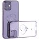 Чехол-накладка KINGXBAR для iPhone 12 mini (5.4) пластик со стразами Swarovski черный (The One)