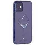 Чехол-накладка KINGXBAR для iPhone 12 mini (5.4) пластик со стразами Swarovski синий (The One)