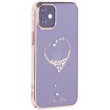 Чехол-накладка KINGXBAR для iPhone 12 mini (5.4) пластик со стразами Swarovski золотой (The One)