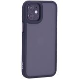 Чехол-накладка пластиковый TOTU Gingle Series для iPhone 12 mini 2020 г. (5.4) с силиконовыми бортами Черный