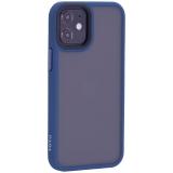 Чехол-накладка пластиковый TOTU Gingle Series для iPhone 12 mini 2020 г. (5.4) с силиконовыми бортами Темно-синий