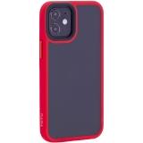 Чехол-накладка пластиковый TOTU Gingle Series для iPhone 12 mini 2020 г. (5.4) с силиконовыми бортами Красный