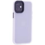 Чехол-накладка пластиковый TOTU Gingle Series для iPhone 12 mini 2020 г. (5.4) с силиконовыми бортами Прозрачный