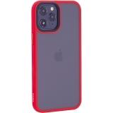 Чехол-накладка пластиковый TOTU Gingle Series для iPhone 12 Pro Max 2020 (6.7) с силиконовыми бортами Красный