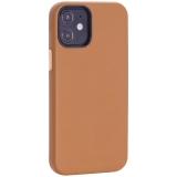 Чехол-накладка кожаный TOTU Emperor Series Leather Case для iPhone 12 mini 2020 г. (5.4) Коричневый