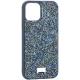 Чехол-накладка силиконовая со стразами SWAROVSKI Crystalline для iPhone 12 / 12 Pro (6.1) Темно-зеленый №2